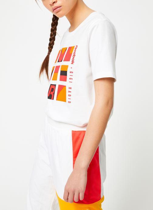 Vêtements Reebok Gigi Tshirt Blanc vue droite