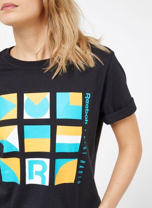 Vêtements Reebok Gigi Tshirt Noir vue face