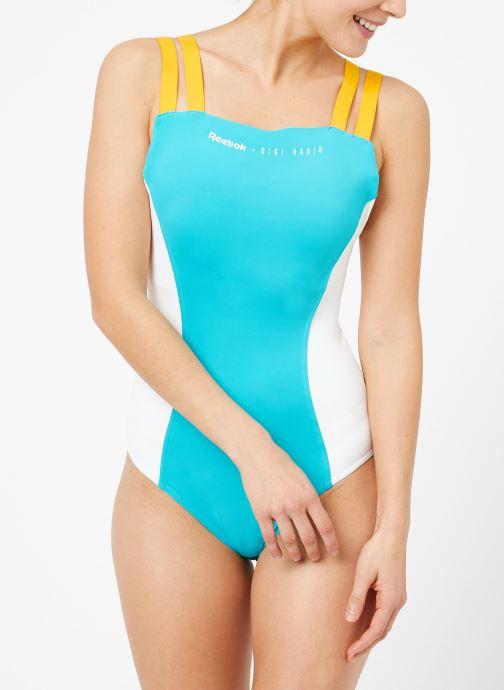 Vêtements Reebok Gigi Bodysuit Bleu vue droite