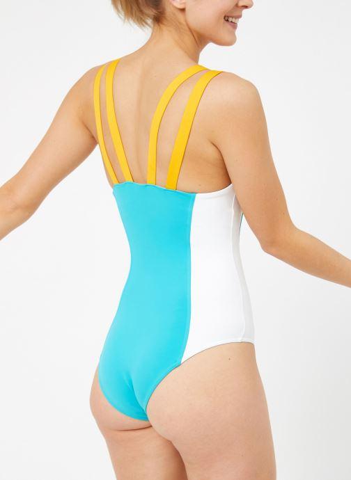 Vêtements Reebok Gigi Bodysuit Bleu vue détail/paire