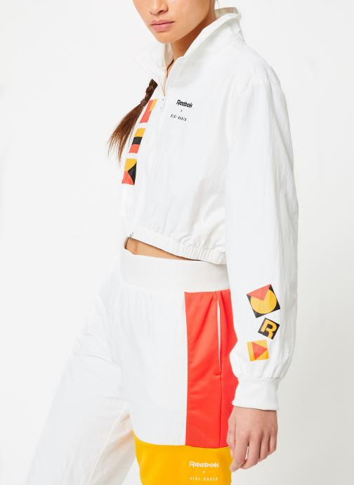 Vêtements Reebok Gigi Trackjacket Blanc vue droite