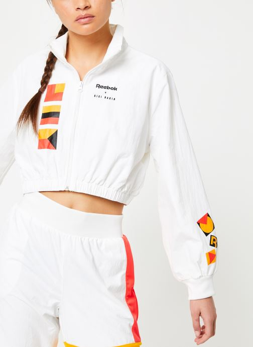 Vêtements Reebok Gigi Trackjacket Blanc vue détail/paire