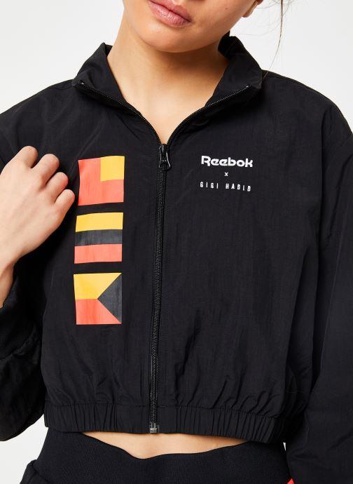 Vêtements Reebok Gigi Trackjacket Noir vue face