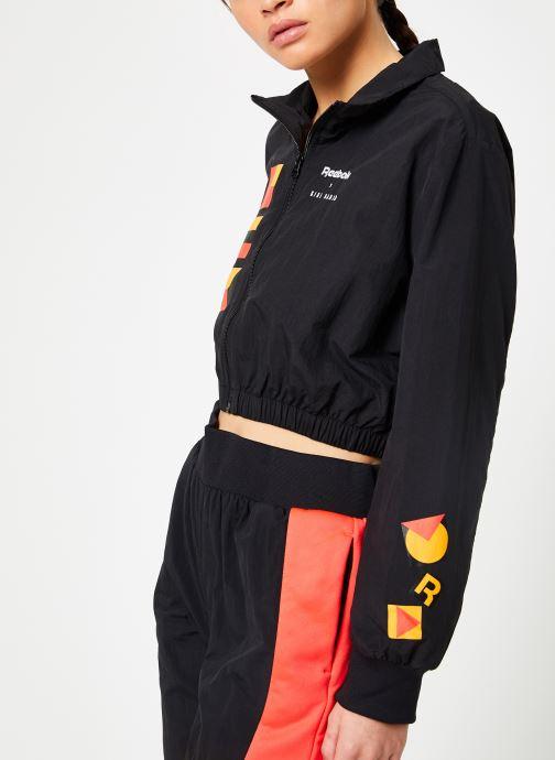 Vêtements Reebok Gigi Trackjacket Noir vue droite