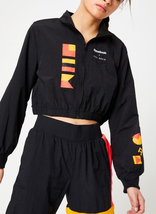 Vêtements Reebok Gigi Trackjacket Noir vue détail/paire