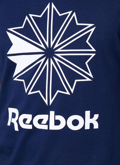 Vêtements Reebok CL Big Logo Tee Bleu vue face