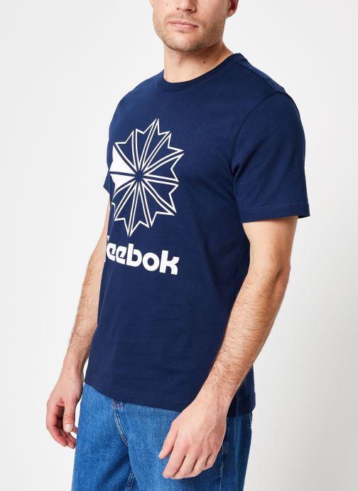 Vêtements Reebok CL Big Logo Tee Bleu vue droite