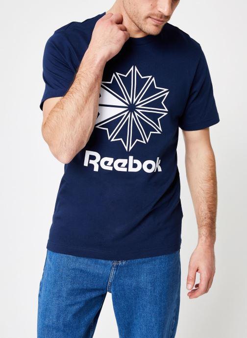 Kleding Reebok CL Big Logo Tee Blauw detail