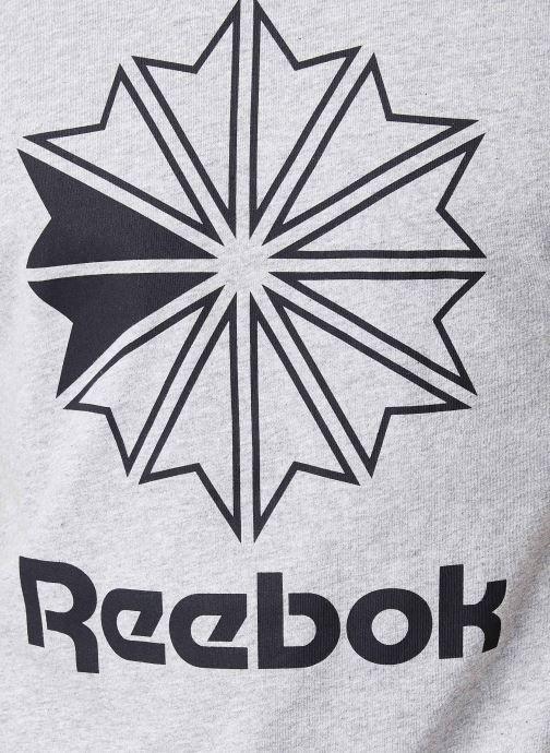 Kleding Reebok CL Big Logo Tee Grijs voorkant