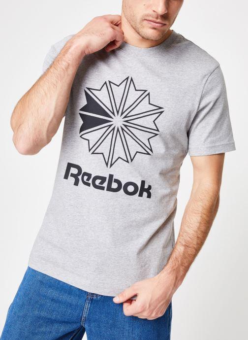 3b1698235a6 Reebok CL Big Logo Tee (Grijs) - Kleding chez Sarenza (361227)