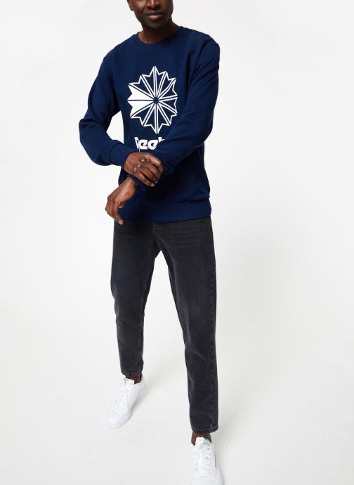 Vêtements Reebok AC FT Big Starcrest Crew Bleu vue bas / vue portée sac