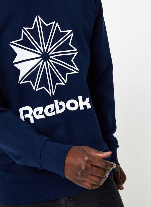 Vêtements Reebok AC FT Big Starcrest Crew Bleu vue face