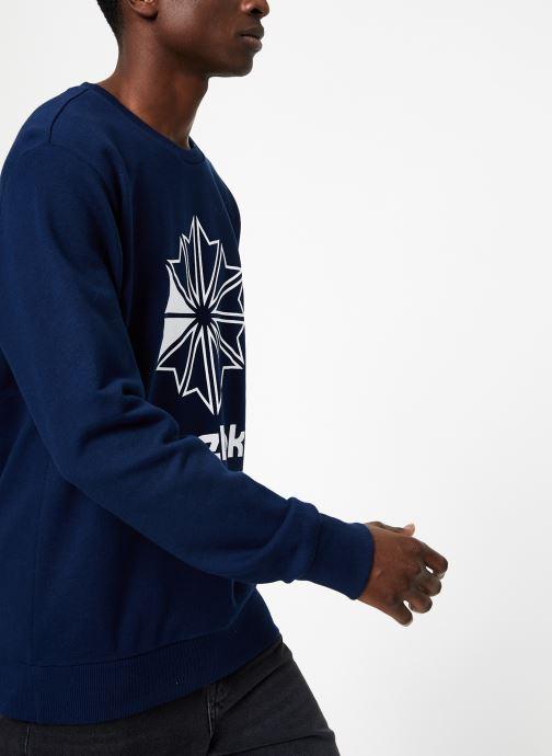 Vêtements Reebok AC FT Big Starcrest Crew Bleu vue droite