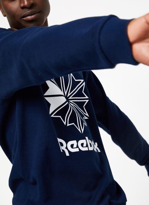 Kleding Reebok AC FT Big Starcrest Crew Blauw detail