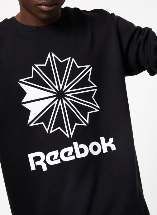 Vêtements Reebok AC FT Big Starcrest Crew Bleu vue face