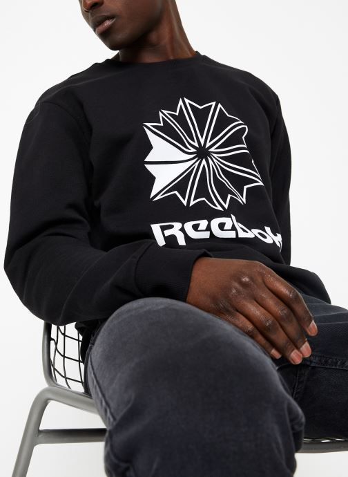 Vêtements Reebok AC FT Big Starcrest Crew Bleu vue détail/paire