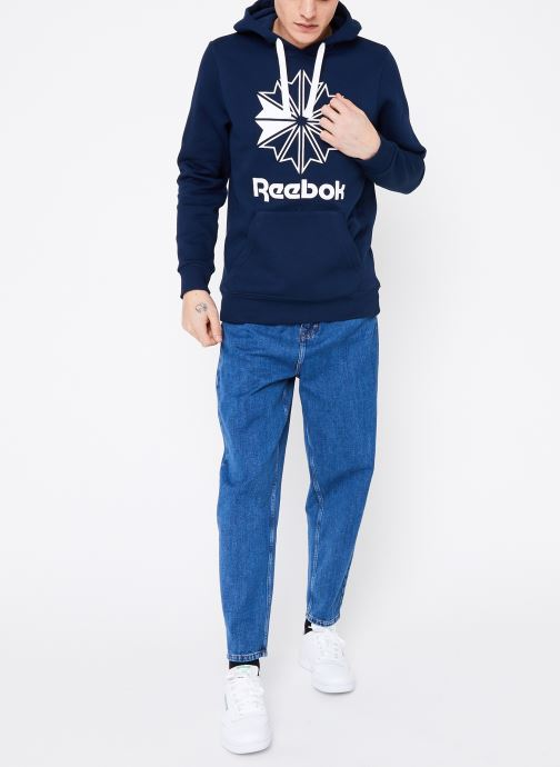 Vêtements Reebok C Big Logo Hoodie Bleu vue bas / vue portée sac