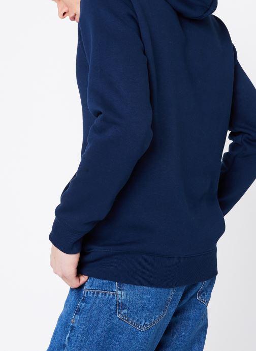 Vêtements Reebok C Big Logo Hoodie Bleu vue portées chaussures