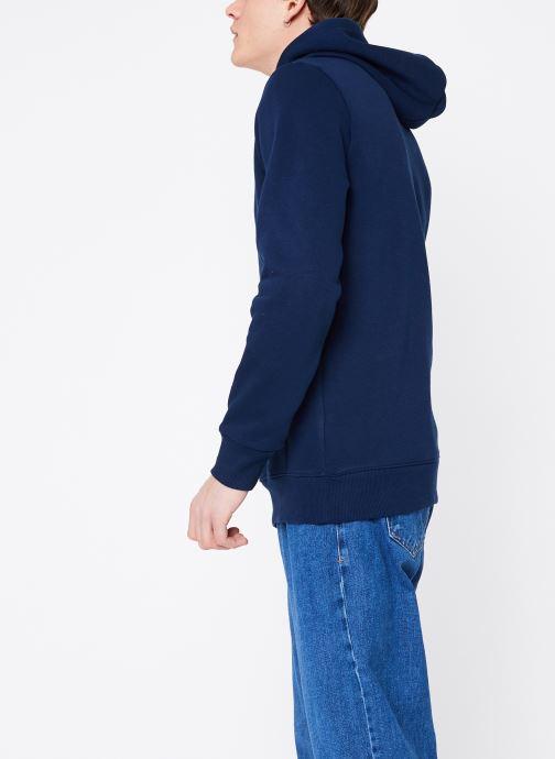 Vêtements Reebok C Big Logo Hoodie Bleu vue droite