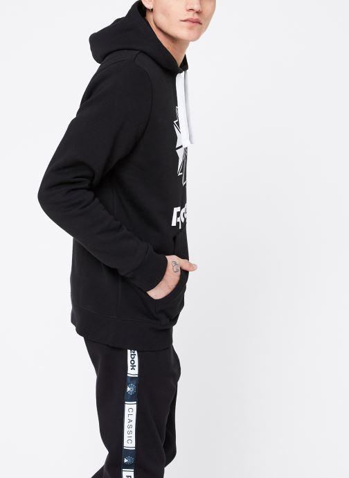 Vêtements Reebok C Big Logo Hoodie Noir vue droite