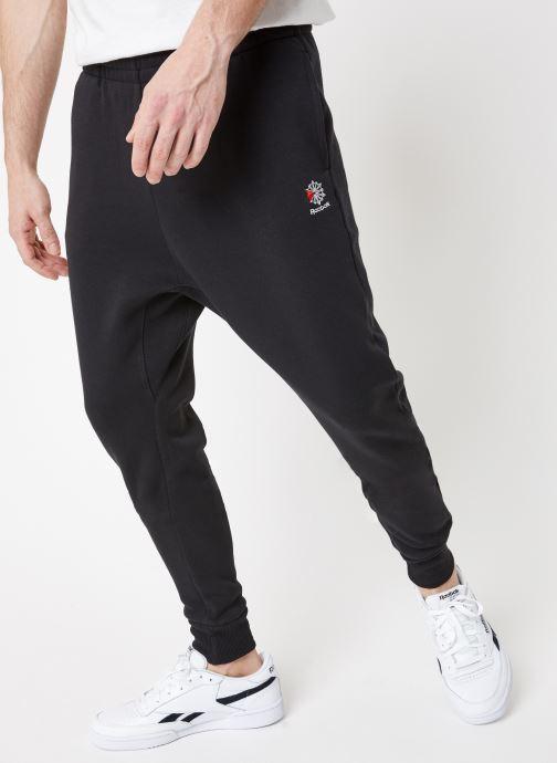 Vêtements Reebok CL F FLC Pant Noir vue détail/paire