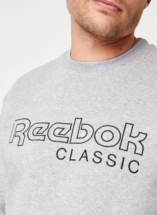 Vêtements Reebok CL FLC Reebok CL Crew Gris vue face