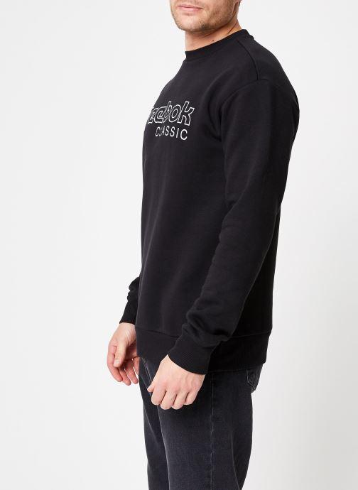 Vêtements Reebok CL FLC Reebok CL Crew Noir vue droite