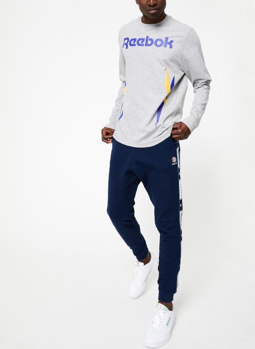 Vêtements Reebok CL FT Taped Pant Bleu vue bas / vue portée sac