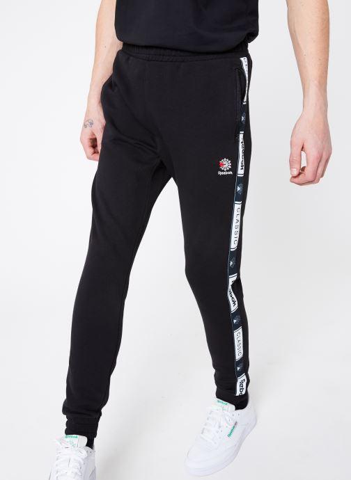 Vêtements Reebok CL FT Taped Pant Noir vue détail/paire