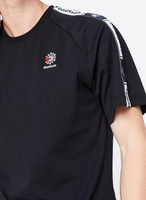 Vêtements Reebok CL Taped Pee Noir vue face