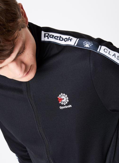 Vêtements Reebok CL Taped Tracktop Noir vue face