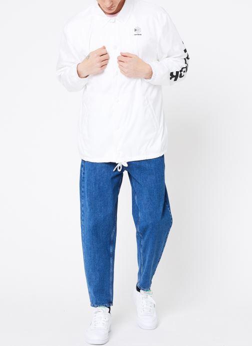 Vêtements Reebok CL GP Windbreaker Blanc vue bas / vue portée sac