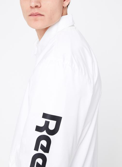 Vêtements Reebok CL GP Windbreaker Blanc vue face