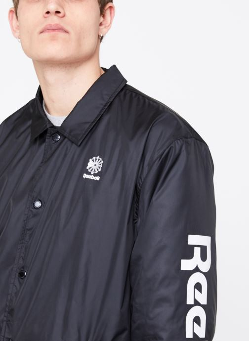 Vêtements Reebok CL GP Windbreaker Noir vue face