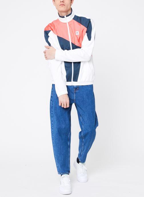 Vêtements Reebok CL A Trackjacket Blanc vue bas / vue portée sac
