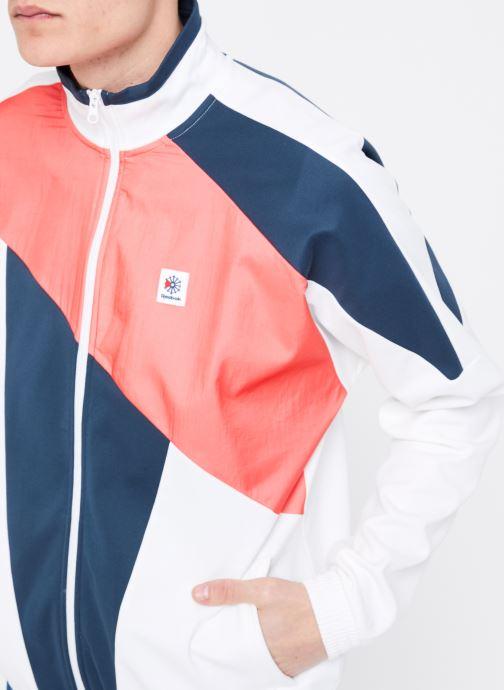 Vêtements Reebok CL A Trackjacket Blanc vue face