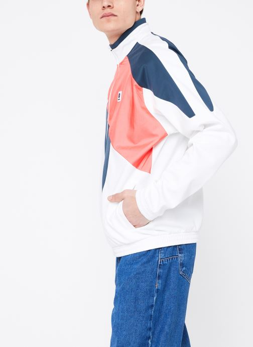 Vêtements Reebok CL A Trackjacket Blanc vue droite
