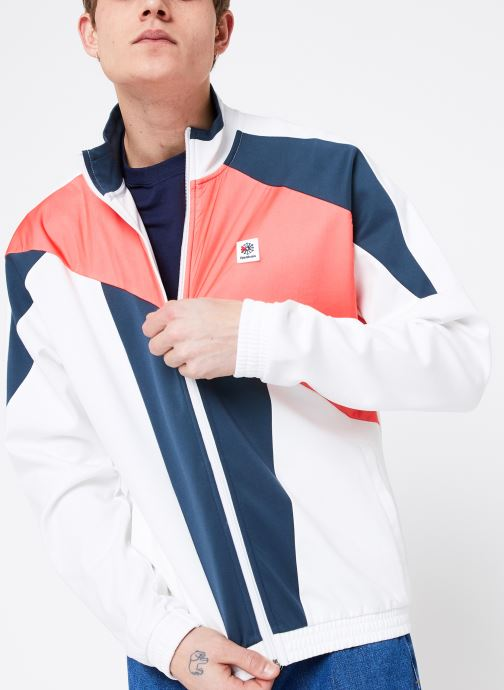 Vêtements Reebok CL A Trackjacket Blanc vue détail/paire