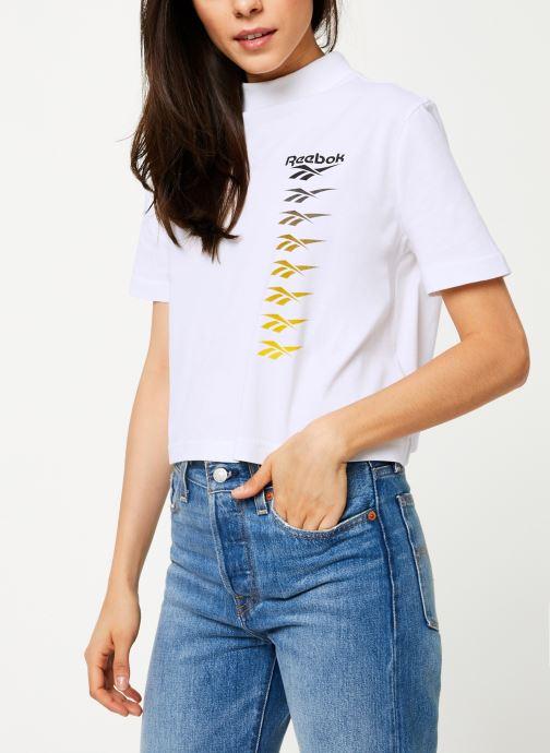 Vêtements Reebok CL V P Cropeed Tee Blanc vue détail/paire