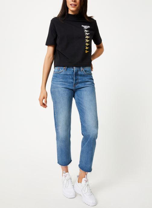Reebok T-shirt - CL V P Cropeed Tee (Noir) - Vêtements (398345)