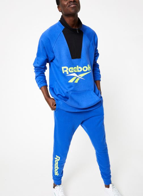 Vêtements Reebok CL V 1/4 Zip Bleu vue bas / vue portée sac