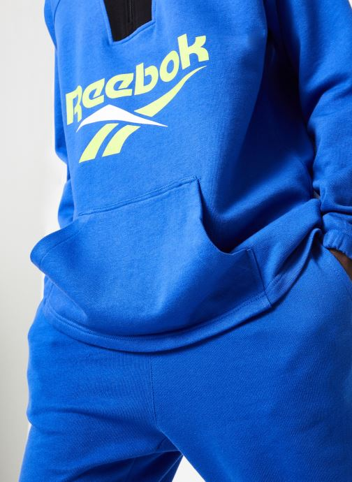 Vêtements Reebok CL V 1/4 Zip Bleu vue face
