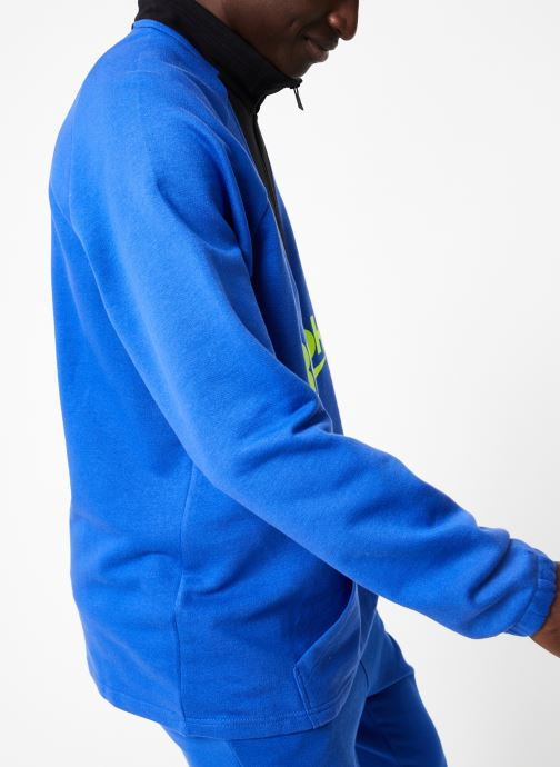 Vêtements Reebok CL V 1/4 Zip Bleu vue droite
