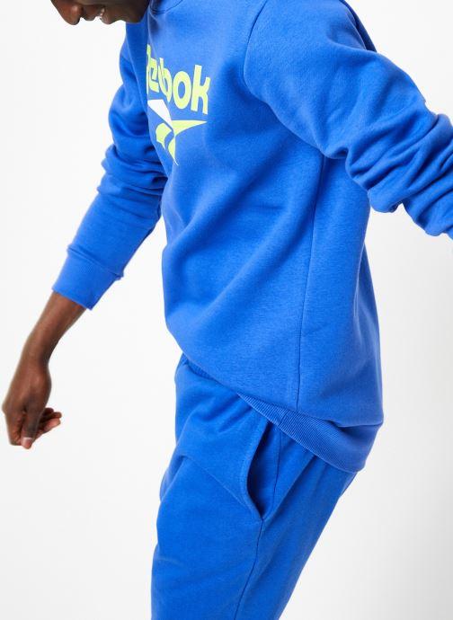 Vêtements Reebok CL V Crewneck Jumper Bleu vue détail/paire