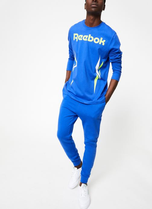 Vêtements Reebok CL V LS Tee Bleu vue bas / vue portée sac