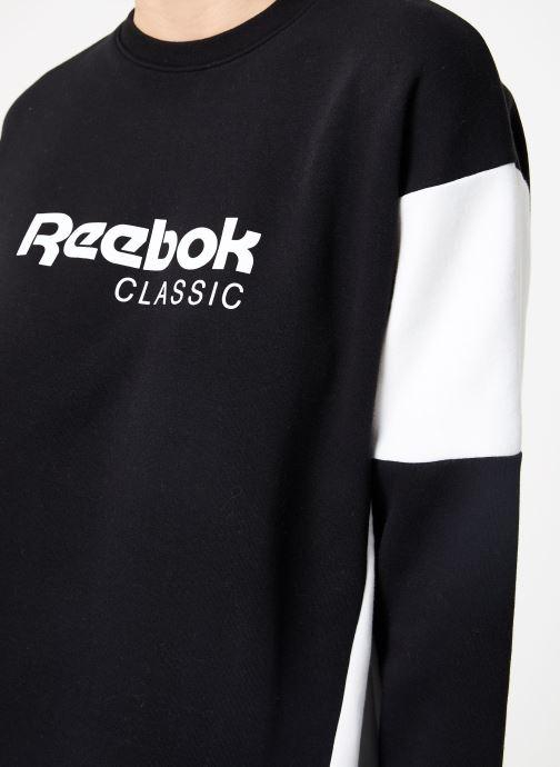 Vêtements Reebok CL A Crew Noir vue face