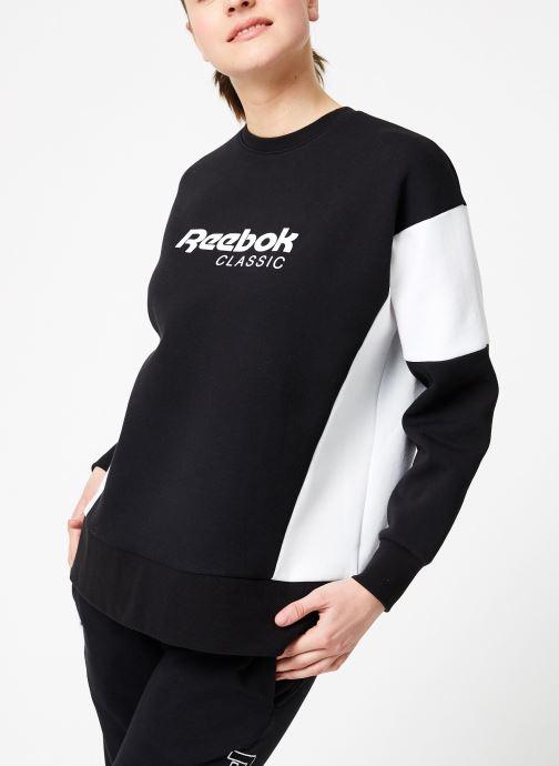 Vêtements Reebok CL A Crew Noir vue droite