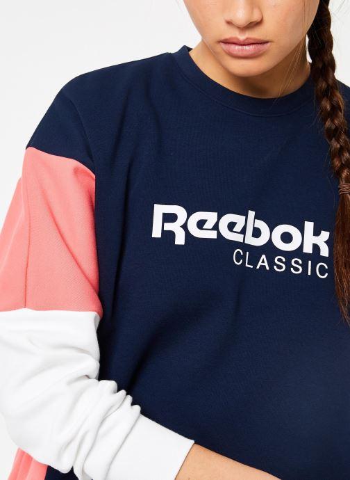 Vêtements Reebok CL A Crew Bleu vue face