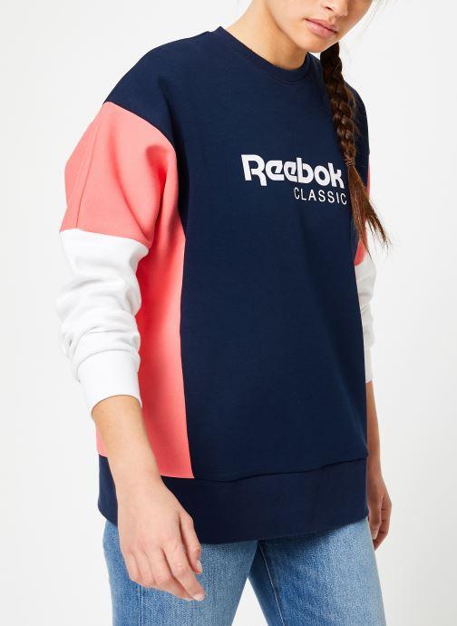 Vêtements Reebok CL A Crew Bleu vue droite