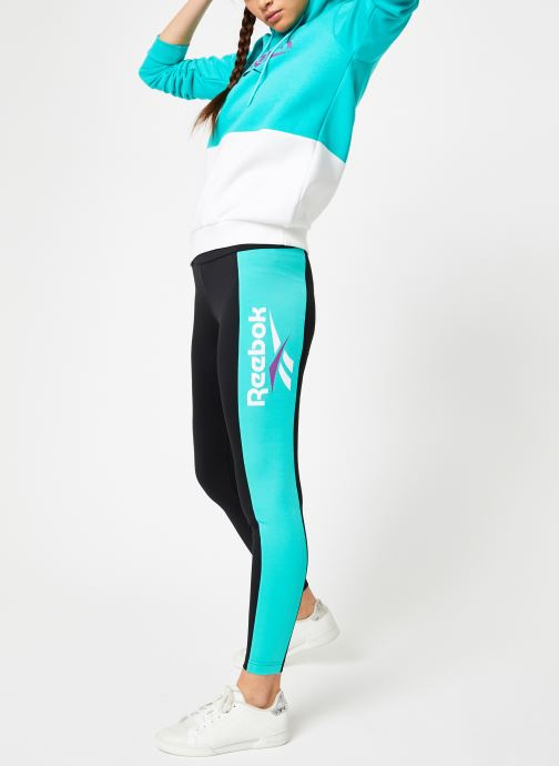 Vêtements Reebok CL V P Hoodie Bleu vue bas / vue portée sac